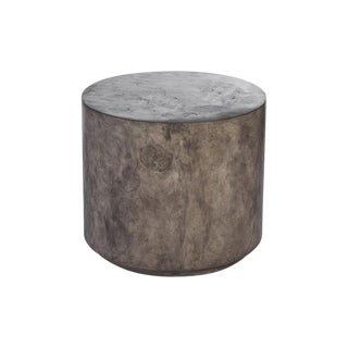 Transitional Baker McGuire Low Round Cement Stool For Sale