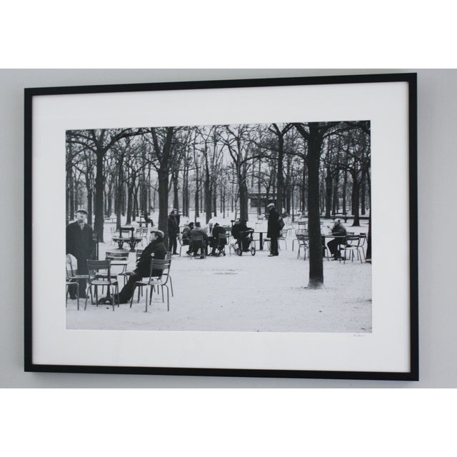 "An original black and white photograph titled ""Old Men of Paris"", taken in 1998. It depicts everyday life in a park in..."