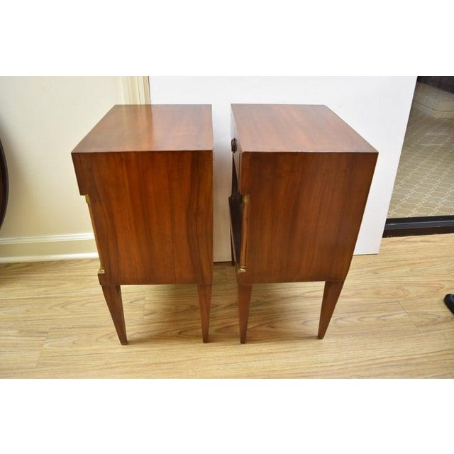 Mid 20th Century Pair of Vintage Italian Nightstands For Sale - Image 5 of 10