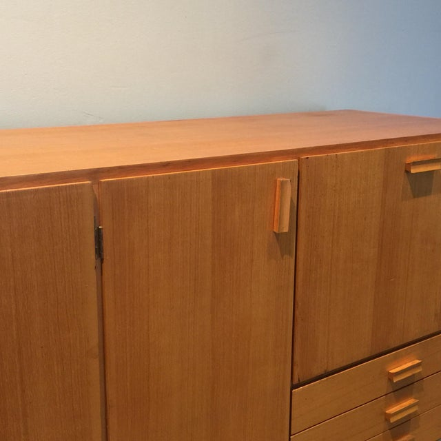 Gold 1950s Custom Made Midcentury Ash Sideboard For Sale - Image 8 of 10