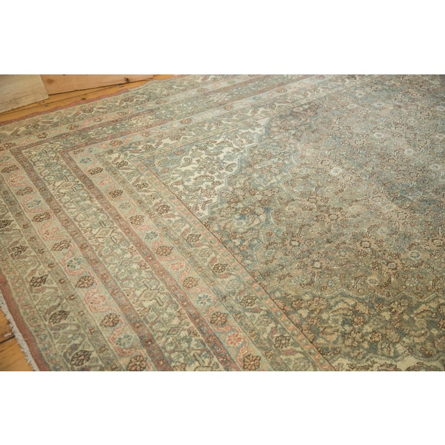 "Textile Vintage Distressed Bibikabad Carpet - 9'5"" X 18'2"" For Sale - Image 7 of 13"