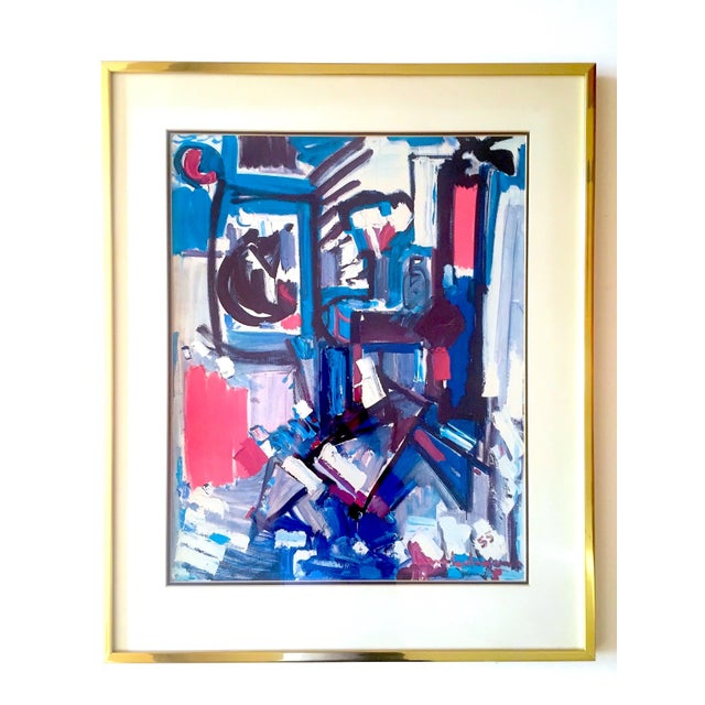 """Hans Hofmann Rare Vintage 1968 Mid Century Modern Abstract Expressionist Framed Collector's Lithograph Print """" Exuberance """" 1955 For Sale - Image 12 of 13"""