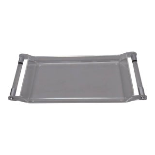 Lucite with Chrome Serving Tray For Sale