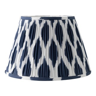 """Signature Ikat in Navy 10"""" Lamp Shade, Navy Blue For Sale"""