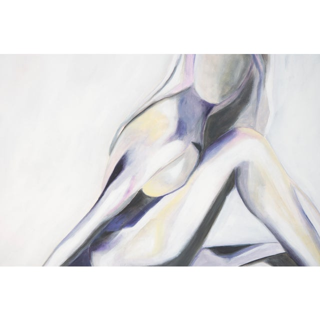 Lilac Lady -Modern Nude Abstract Painting by Emily Powell For Sale - Image 4 of 4