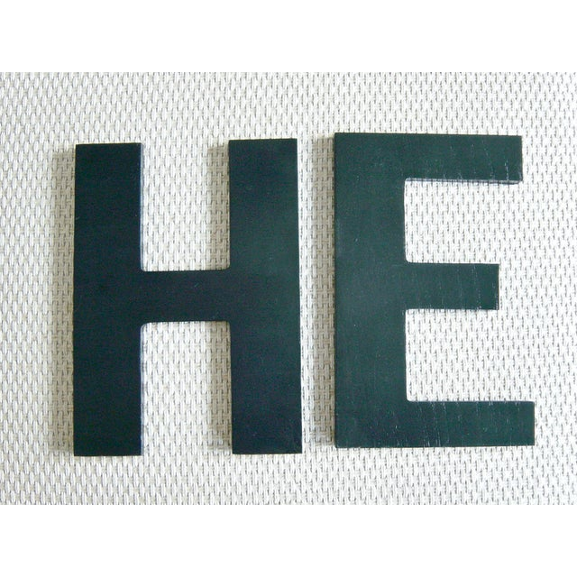 """He"" Wooden Letters - A Pair For Sale - Image 5 of 5"