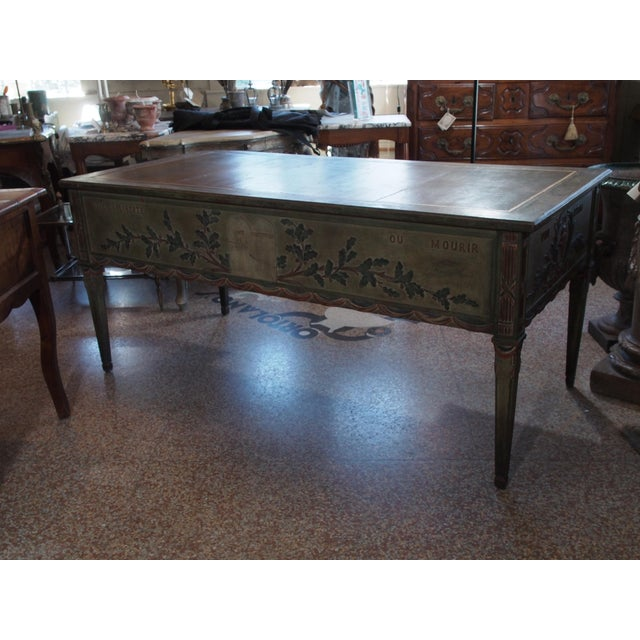 "Late 19th Century ""French Revolution"" Polychrome Desk For Sale - Image 5 of 9"