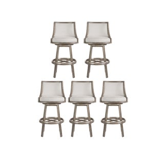 McGuire Passage Swivel Bar Stools - Set of 5 For Sale