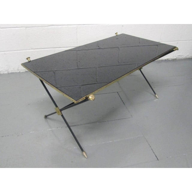 Brass and Iron Coffee Table Attributed to Arturo Pani - Image 2 of 9