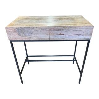 West Elm Industrial Storage Mini Desk For Sale
