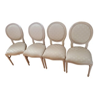 Oval Back Louis XVI Dining Chairs- Set of 4 For Sale