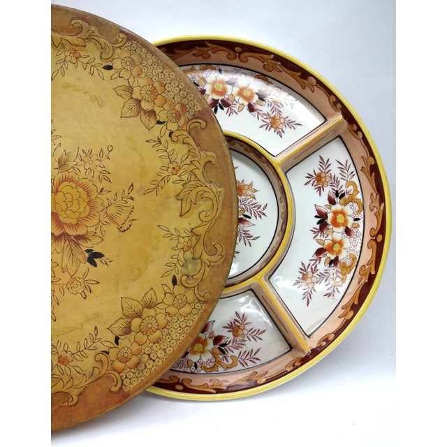 MCM Divided Serving Plate With Matching Box For Sale - Image 11 of 11
