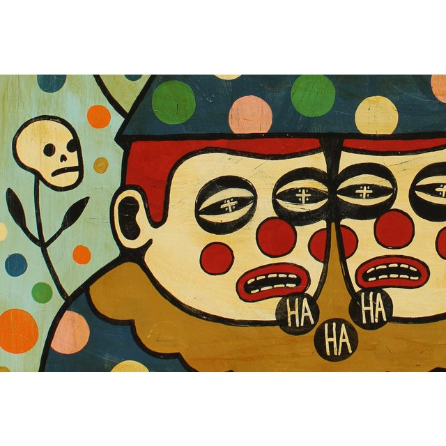 "Abstract Mike Egan, ""The Comedians"" For Sale - Image 3 of 4"