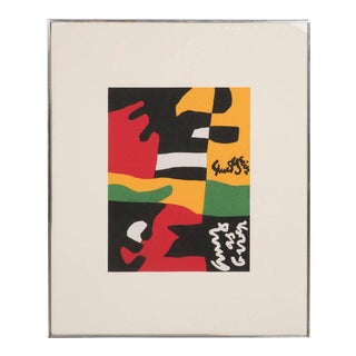 Untitled- Screen Print in Colors from the Portfolio Ten Works x Ten Painters For Sale