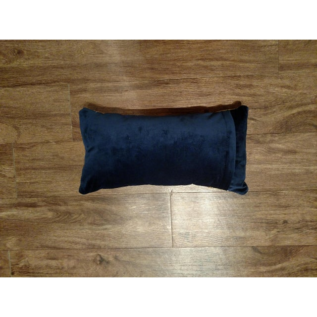 Modern Gold Leather Pillow For Sale - Image 3 of 3