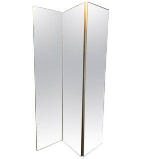 Mirrored 3-Panel Screen