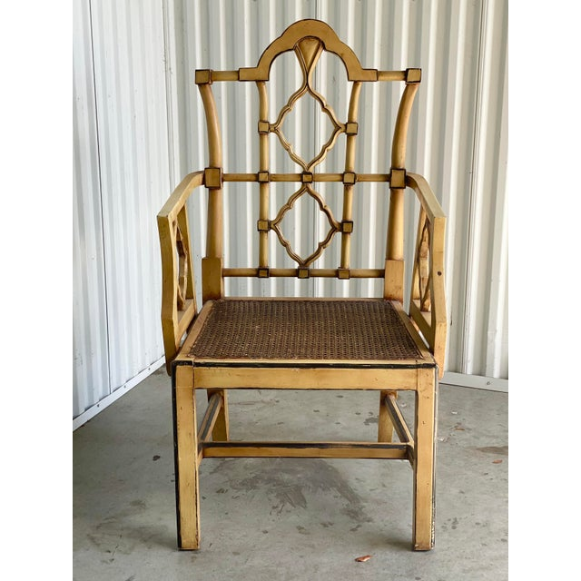 Vintage Bamboo Fretwork Armchair For Sale - Image 4 of 11