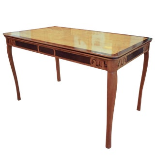 1920s Library/Dining Table Incorporating All the Woods of the Swedish Forest For Sale