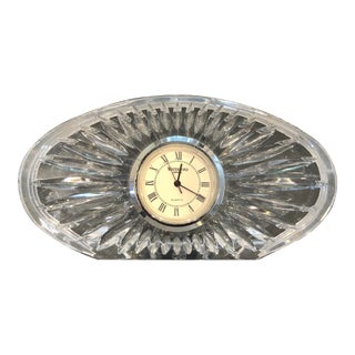 "Waterford Crystal ""Sheridan"" Oval Clock For Sale"