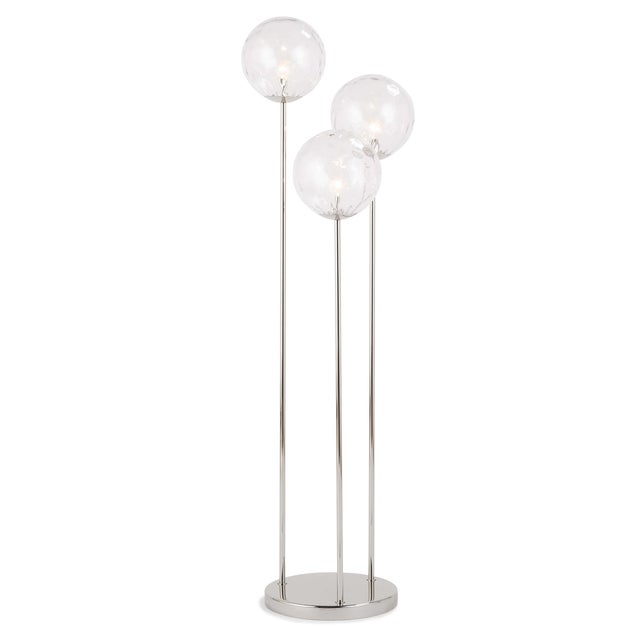 Rio Triple Floor Lamp in Polished Nickel For Sale In Detroit - Image 6 of 6