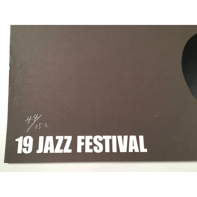 Gray Montreux Jazz Festival Poster by Shigeo Fukuda For Sale - Image 8 of 10