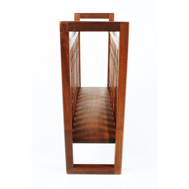 "1960s Drexel Wooden ""Crib"" Magazine Stand For Sale - Image 5 of 6"