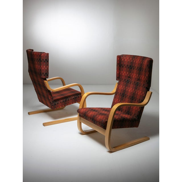 """Rare Set of """"401"""" Lounge Chairs by Alvar Aalto for Artek For Sale - Image 6 of 6"""