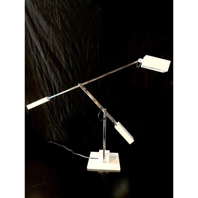 1960s Robert Sonneman Articulating Task Lamp For Sale - Image 9 of 9