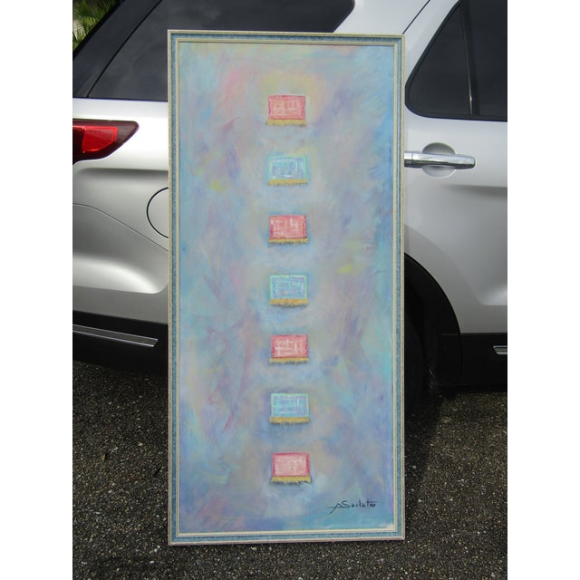 """""""Little Boxes"""" Large Abstract Painting For Sale - Image 9 of 9"""