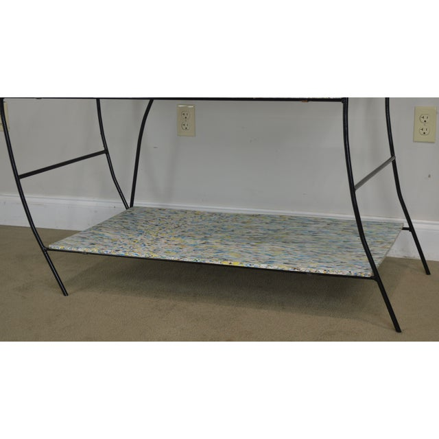 Black Whimsical Mid Century Modern Iron Etagere Display Rack For Sale - Image 8 of 12