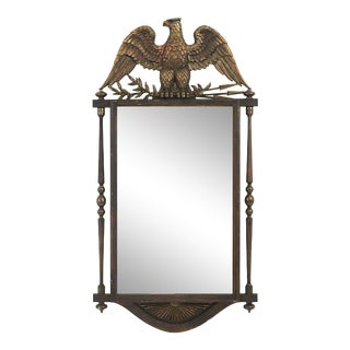 Vintage Federal Bald Eagle Wall Mirror by Burwood Products For Sale
