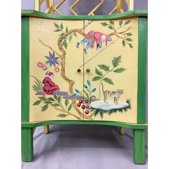 Chinese Style Painted Shelf For Sale In New York - Image 6 of 11