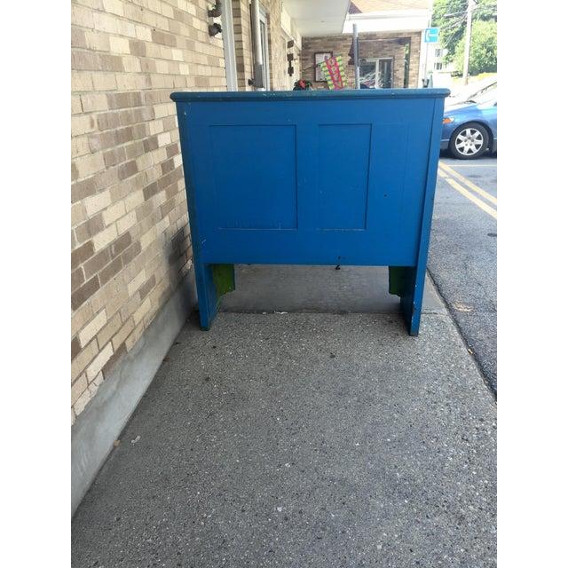 Blue Bohemian Deacon's Bench - Image 5 of 6