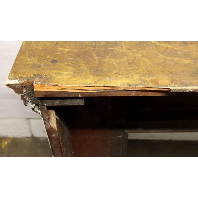 Antique Wooden Regency Mantel With Faux Marble Look For Sale - Image 9 of 10