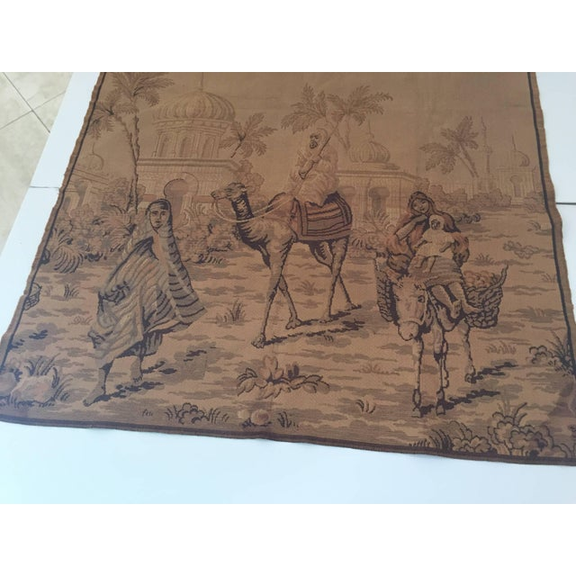 Tapestry With an 19th Century Orientalist Scene and Moorish Architecture For Sale - Image 9 of 10