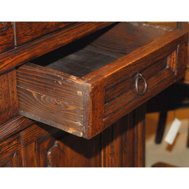 Baroque Vintage Italian Elm Baroque Style Cabinet For Sale - Image 3 of 7