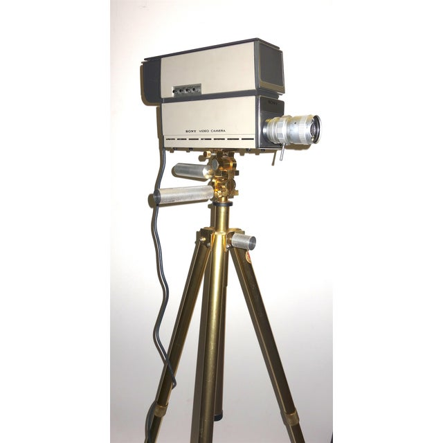 Sony Vintage Vidicon Industrial Video Camera Circa 1969-70 Complete With Tripod. ON SALE For Sale - Image 4 of 11