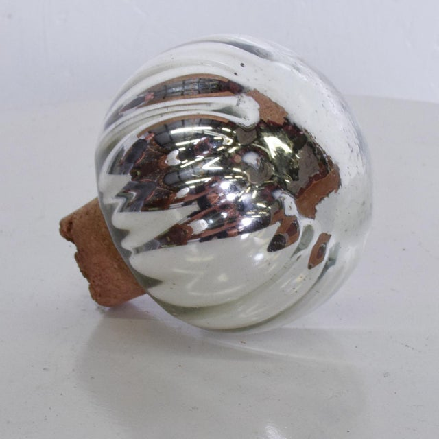 Vintage Mexican Modern Mercury Glass Stopper For Sale - Image 4 of 8