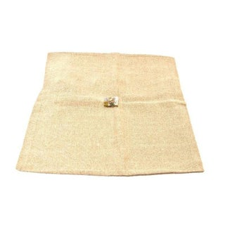 Hand-loomed Linen Pillow Sham with Beaded Center For Sale