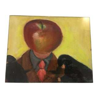 1970s Surrealistic Figurative Oil Painting by Ralph Neaderland For Sale