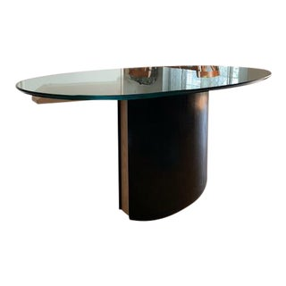 Art Deco Custom Made Glass Dining Room Table For Sale
