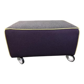 Modern Gervasoni for Environmental Designs Purple Fabric Upholstered Ottoman