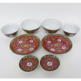 Red Mun Shou Dinnerware - Set of 8 Preview
