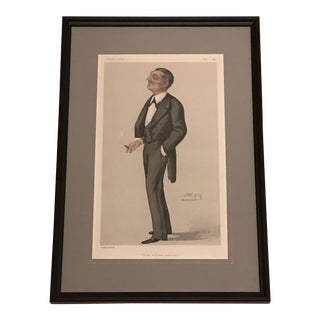 """""""In His Military Capacity"""" Vanity Fair Caricature Lithograph"""