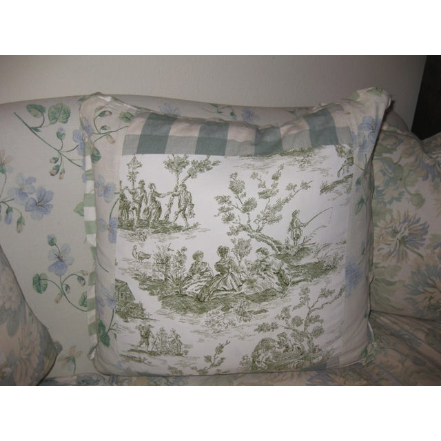 Cottage JM Paquet Floral Sofa For Sale - Image 3 of 9