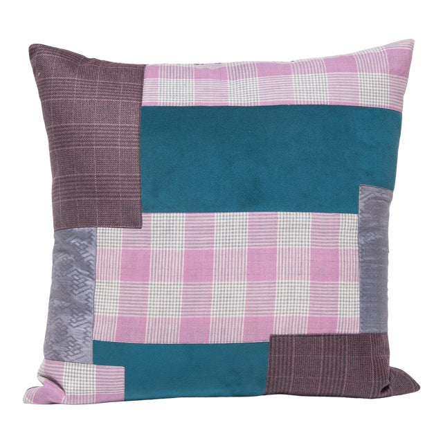Japanese Suiting Throw Pillow For Sale