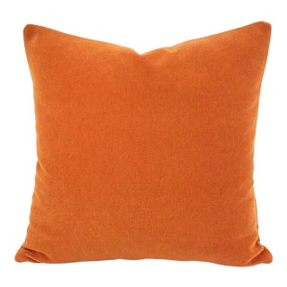 "Place Textiles La Scala in Valencia Pillow Cover 20"" X 20"" Solid Orange Rust Alpaca Wool Accent Cushion Case For Sale"