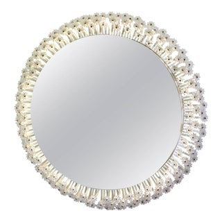 Mid-Century Modern Illuminated Oval Wall Mirror