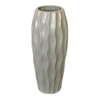 Gray Swirl Vase For Sale