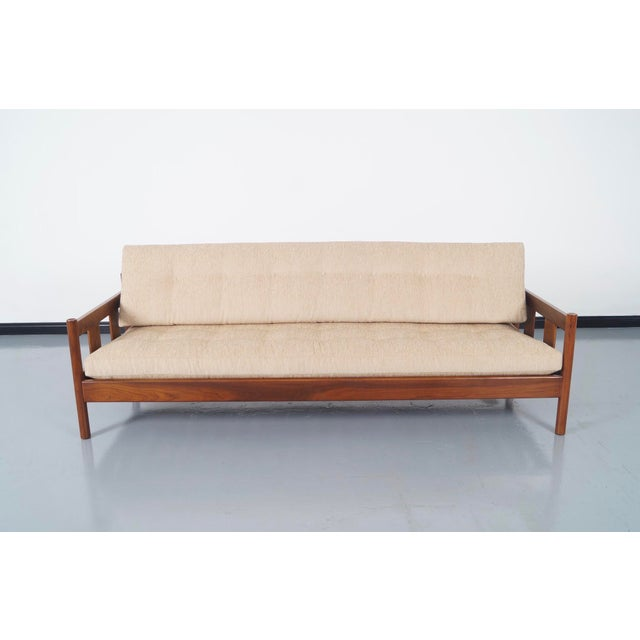 Danish Modern White Sofa - Image 2 of 5